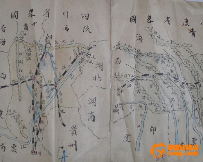 6张民国手绘地图~~~~~~~~~~包老
