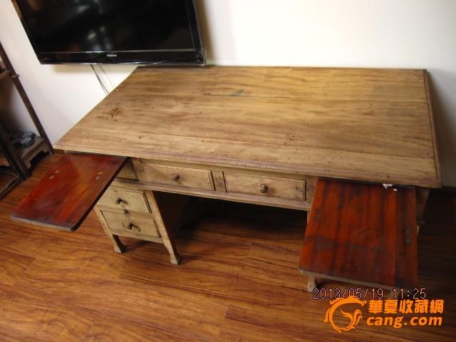 欧式古董老书桌