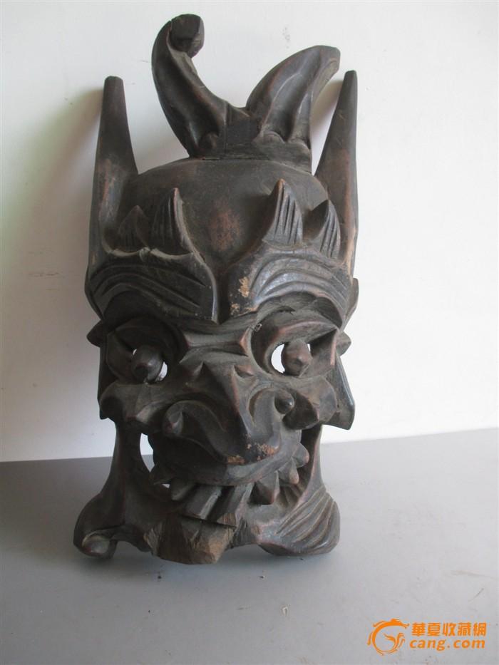 摊戏木雕面具_摊戏木雕面具价格
