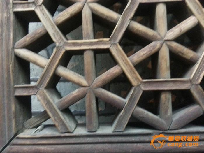 清代 古玩 手工精致雕刻老木门窗户及窗花柜门镂空雕刻板