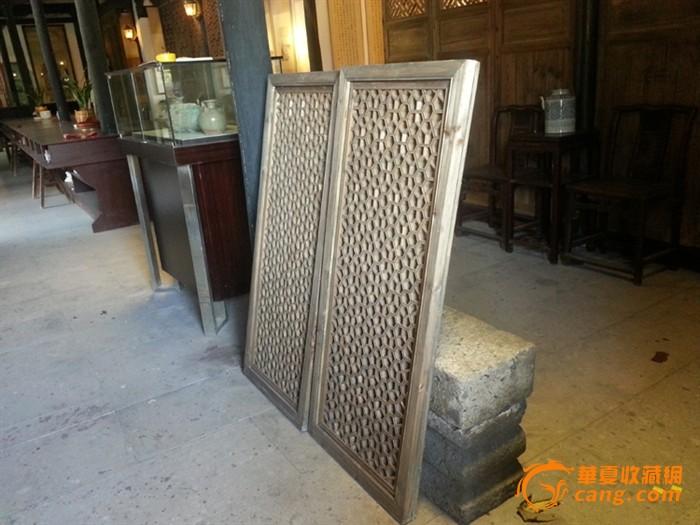 清代 古玩 杂件 手工精致立体雕花窗户 多边形镂空雕刻板