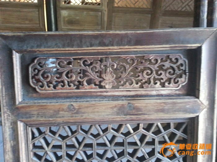 清代 杂件 手工精致雕刻老木门窗户及窗花柜门人物雕刻板