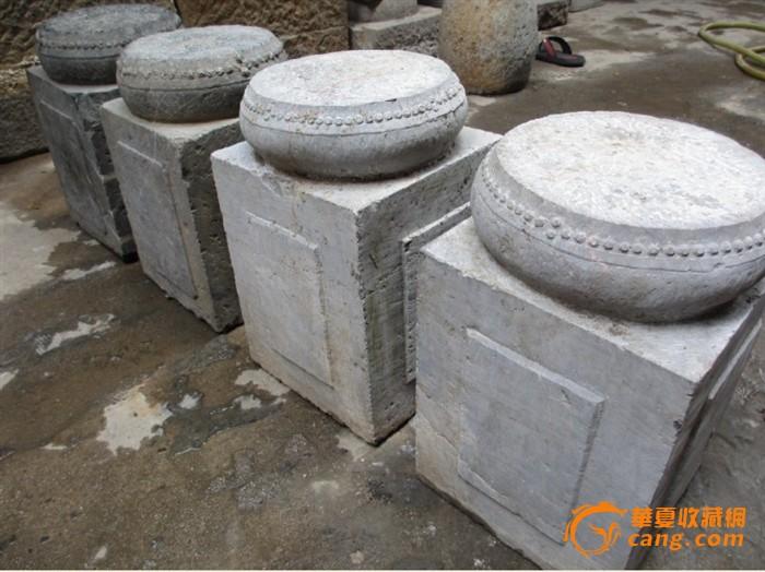 一套四个圆鼓坐凳.素气典雅.————庭院石雕