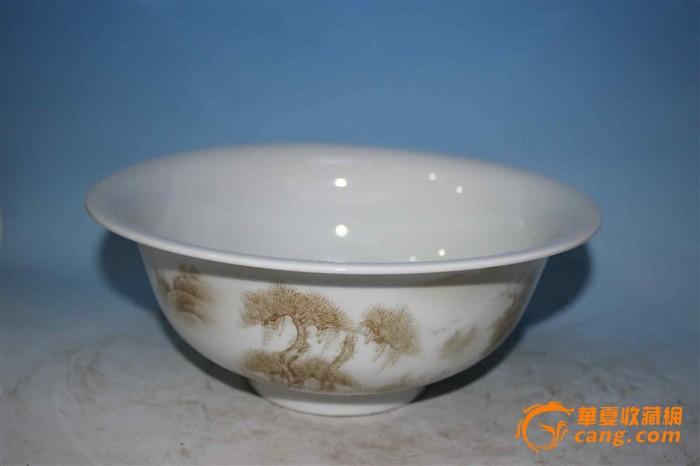 山水大瓷碗