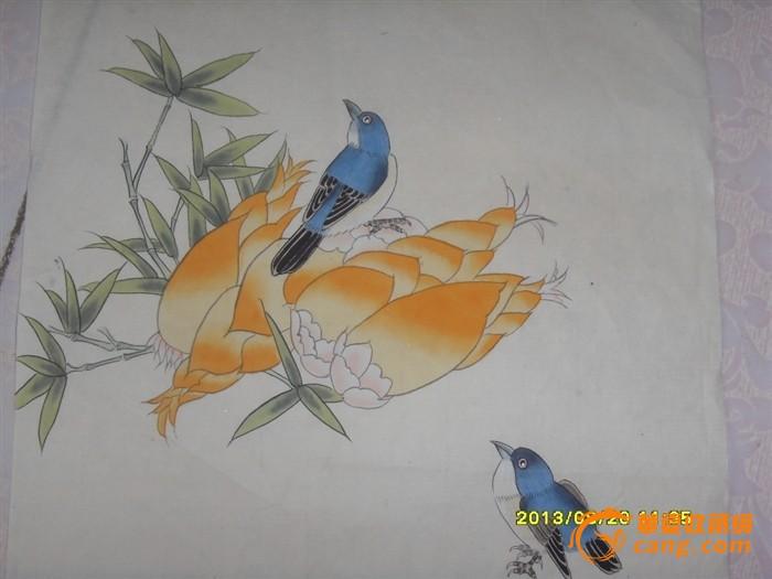 工笔画 手绘花鸟工笔册页