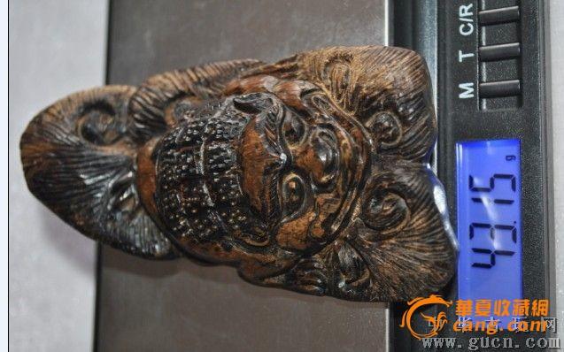 印尼石头沉香木雕佛手手玩件沉香手把件木雕工艺品