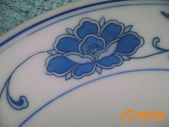 景德镇蓝青花瓷盘