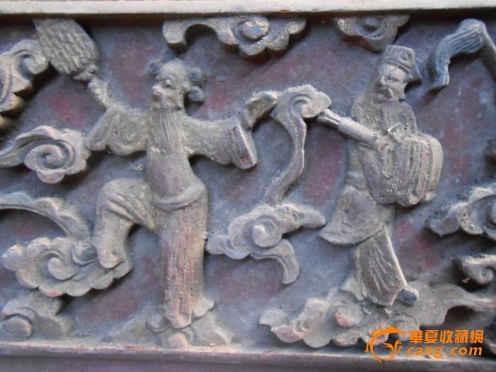 明代崇祯楠木雕八仙过海花板一块