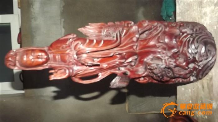 手工雕刻红木观音