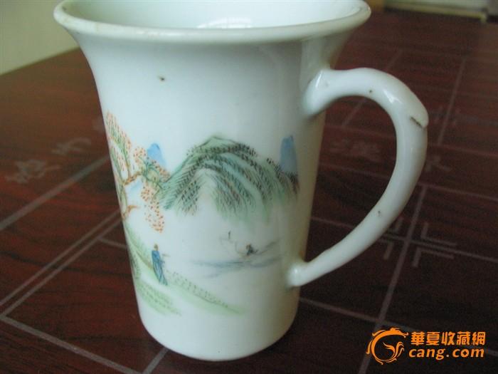 手绘人物茶杯图片