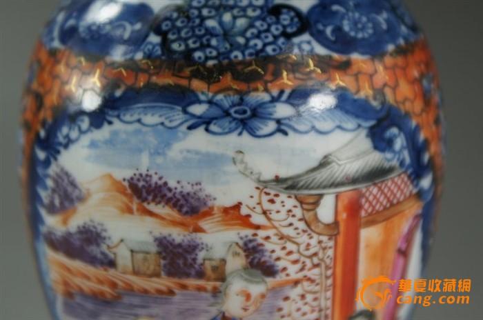 清乾隆青花广彩人物纹瓶_ - 旭在东北 - 旭在东北原创音画博客(*^_^*)