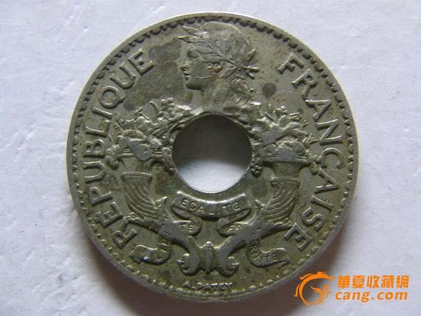 极美品法属印支那5分白铜币 1937年_极美品法