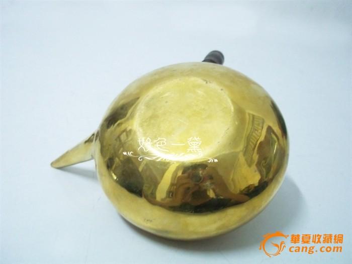 小铜壶铜烧水壶檀木柄厚铜胎手工制作