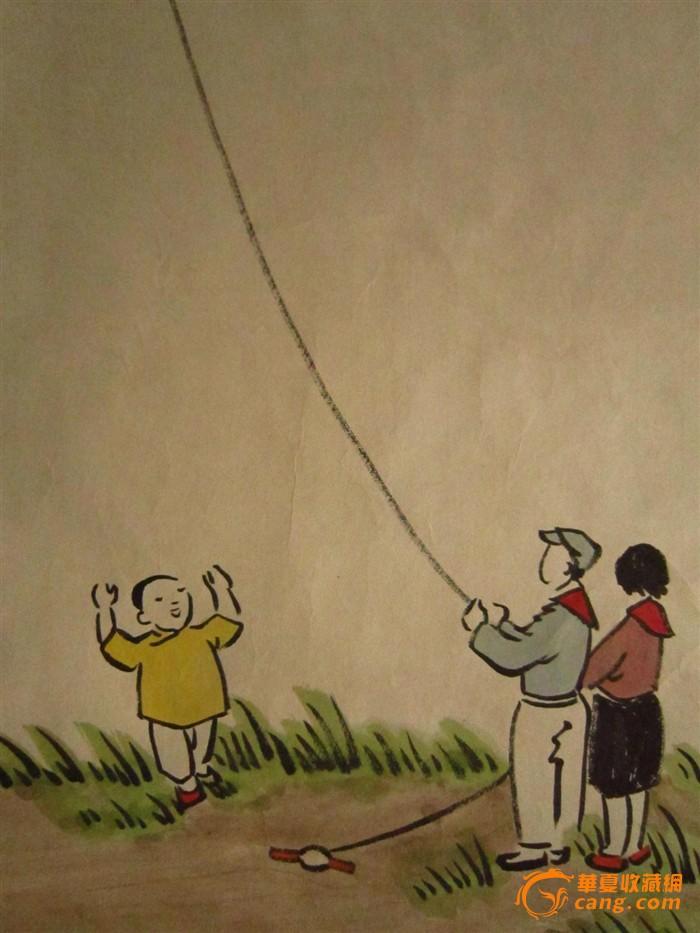 人物画 儿童散学归来早