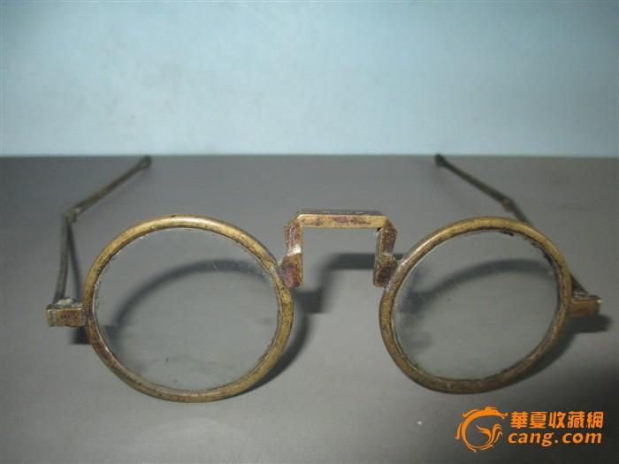 清代铜框金丝眼镜全品收藏品