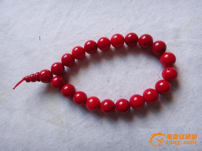 天然红珊瑚价格_... 其它 清代天然红珊瑚手串