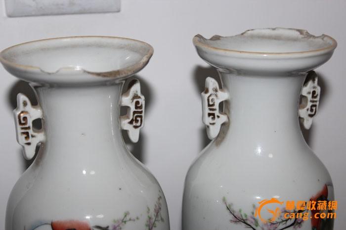 民国时期三国人物尺瓶