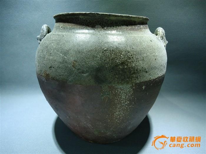 唐代青瓷全品双系大罐一件图1
