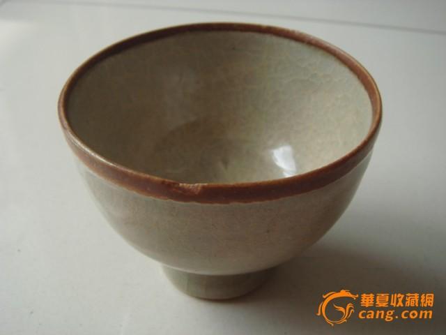 宋末影青釉褐彩酒杯图3