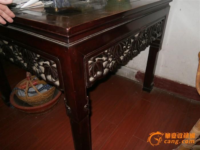 红木老式八仙桌图片