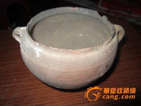 手绘人物陶罐摆件