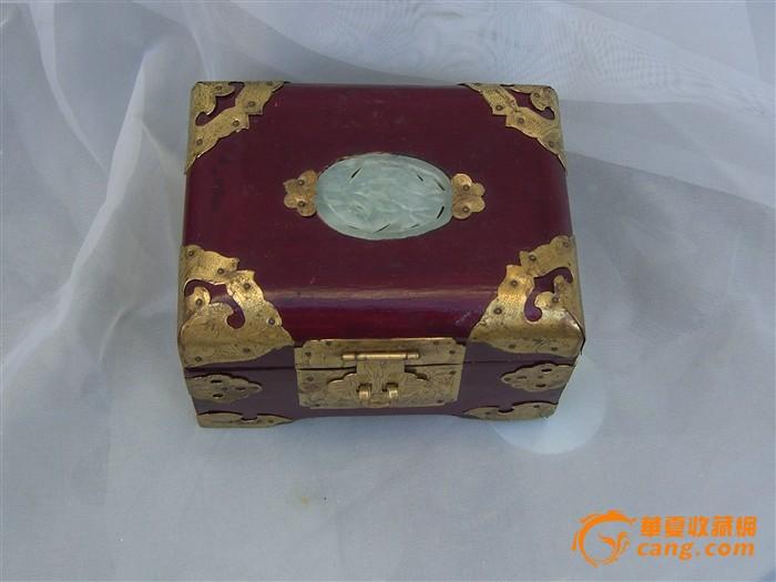 创汇期玉镶嵌精美首饰盒-图1