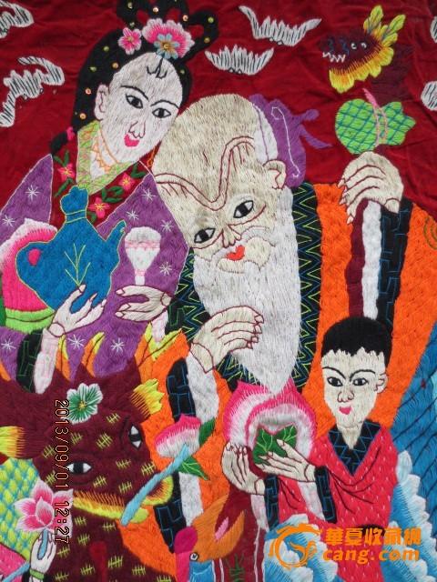 漂亮老寿星刺绣