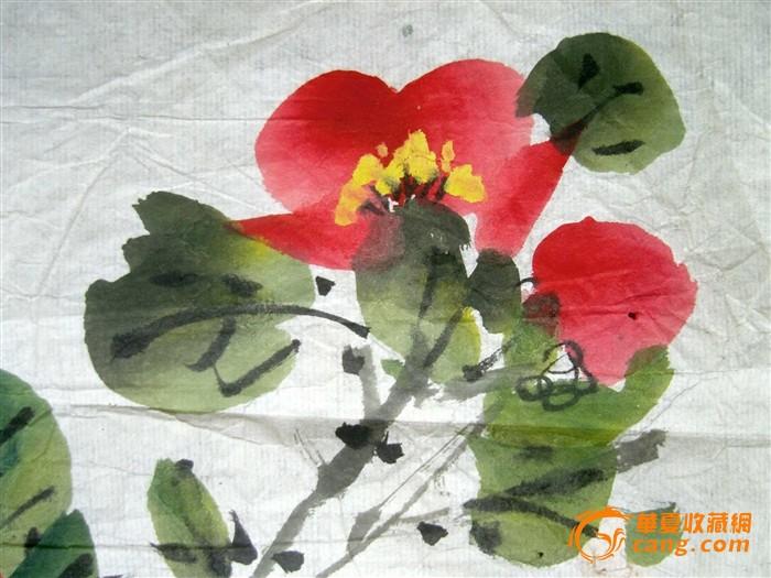 曹简楼《彩墨花卉小品画》旧软片◆海派名书画名家