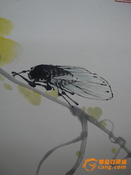 手绘花鸟图绿底壁画