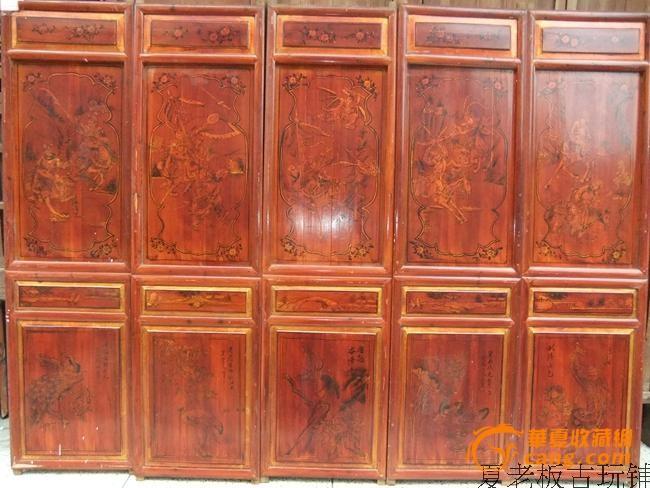 明清家具柜子手绘图