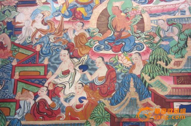 藏式文字唐卡边框素材