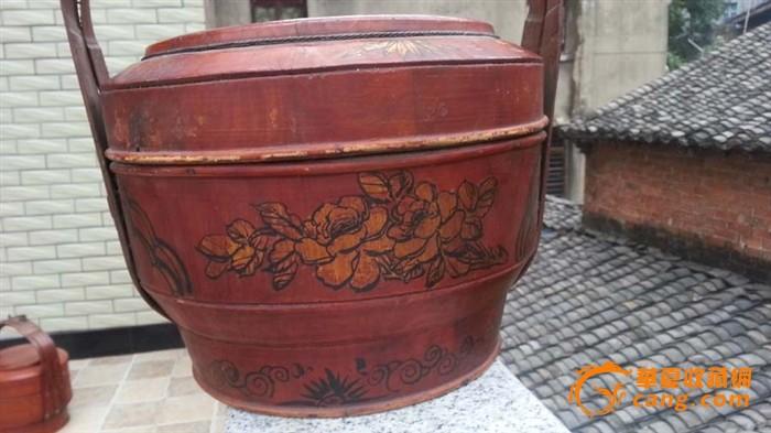 癸亥年食盒四花鸟提篮老家具木金发先生-癸亥篮子pvc图片