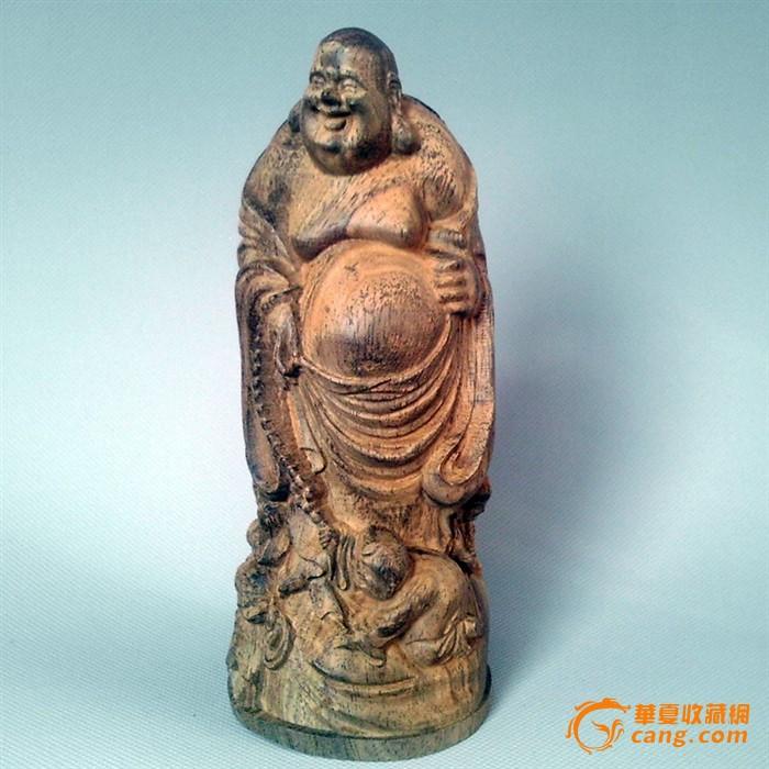 木雕-三子戏弥勒佛摆件佛像