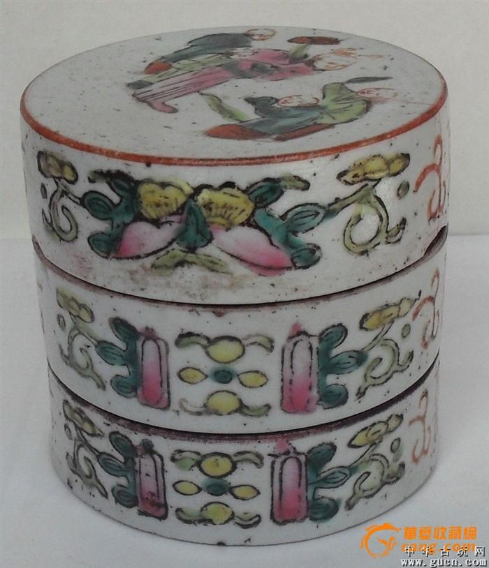 粉彩故事人物瓷盒图2