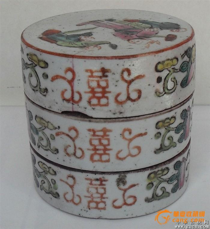 粉彩故事人物瓷盒图4