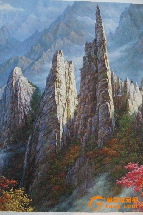 欧式风景竖版油画