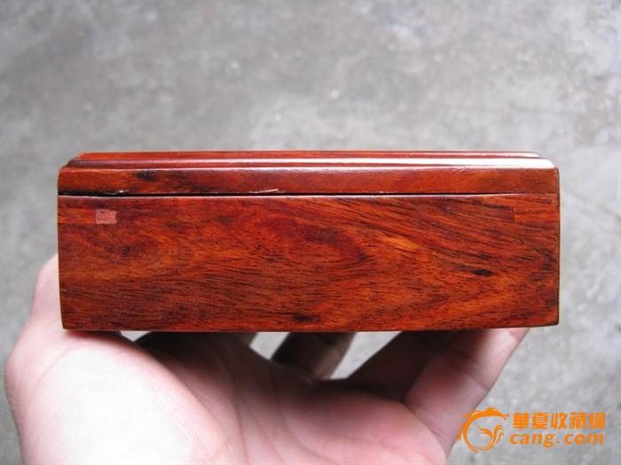 红酸枝盒子, 榫卯结构,花纹好(#12)