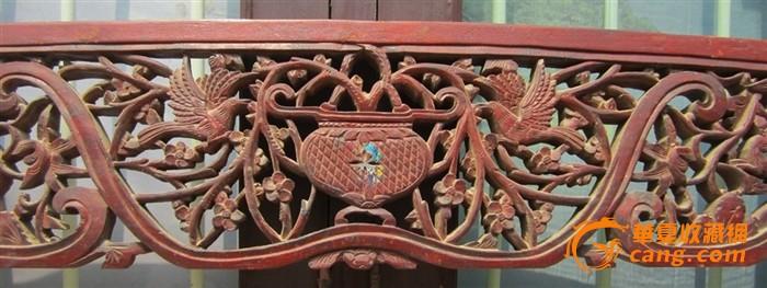 古玩木雕,老式雕花花板木艺