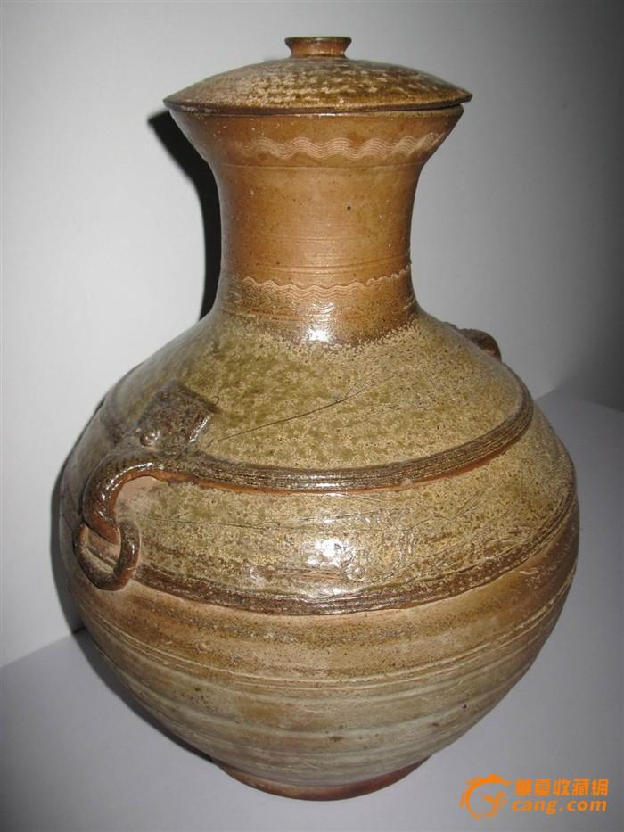 古董汉代青瓷花瓶 ,古玩瓷器,青瓷花瓶汉代瓷保真包老图片
