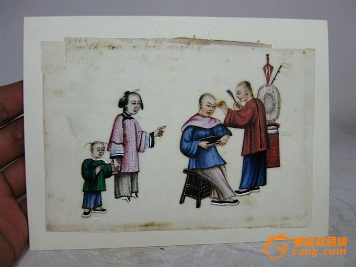 清代人物生活绘画灯草画