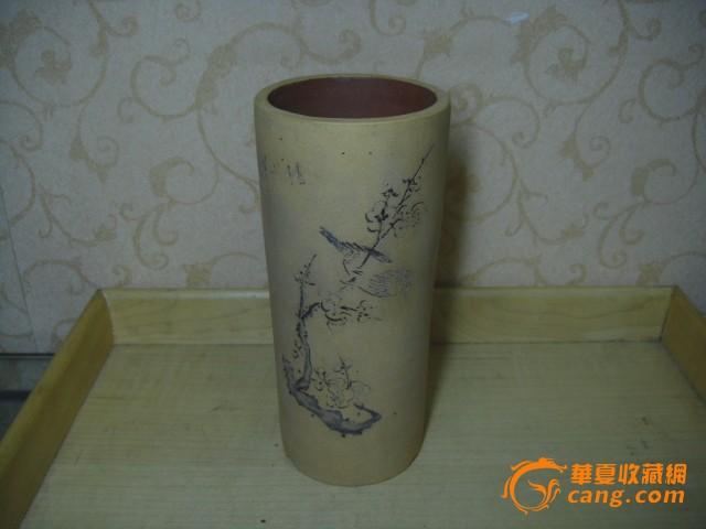 紫砂段泥,圆筒花盆