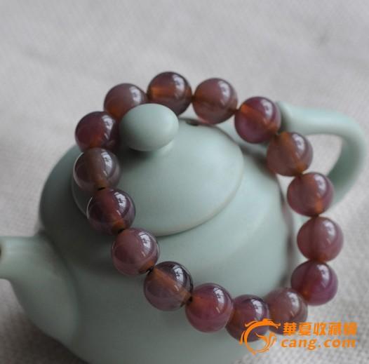 紫罗兰玻璃丝手链 彩色古董手串