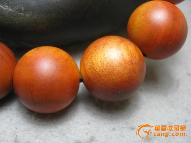 【百年老料血龙木手串】编号6715