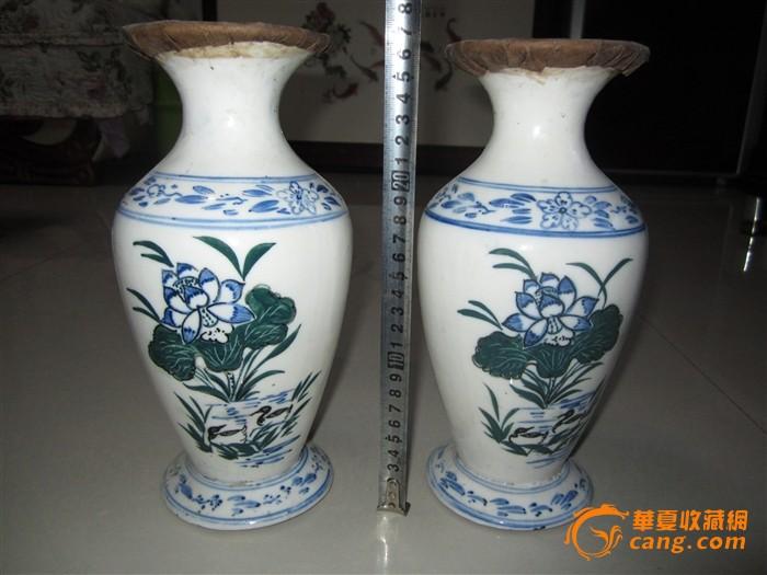 一对青花瓷瓶老普洱茶图5