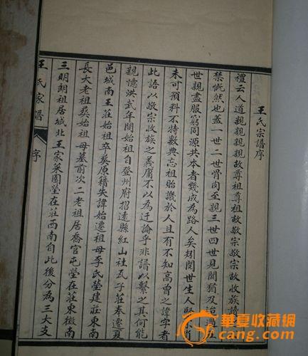 山东夏津县王氏族谱图片