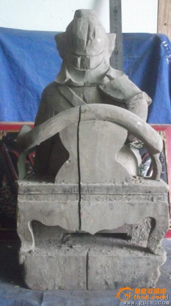 木雕佛像,很大,表情很自信啊图5