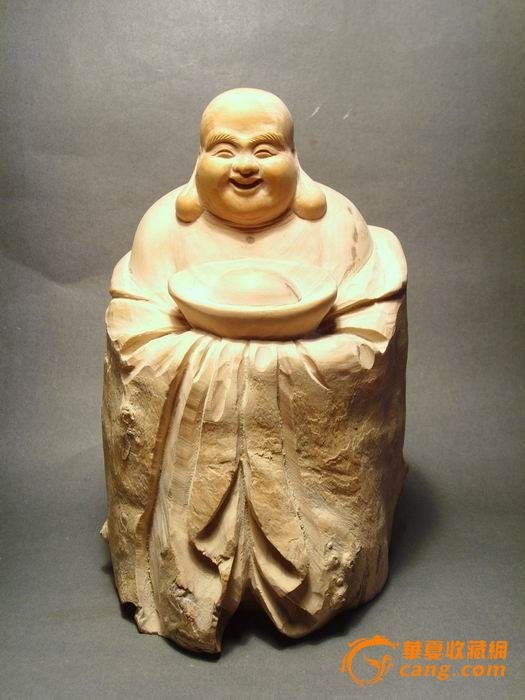 黄杨木雕:弥勒佛