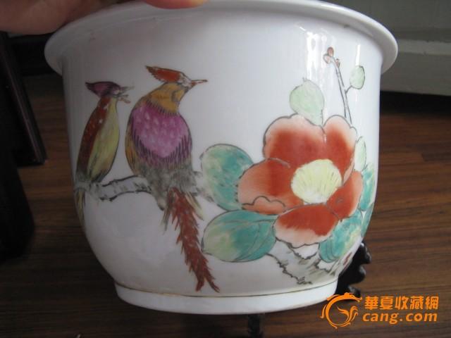 新春大吉手绘花盆