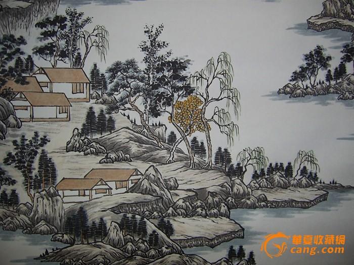 名家水墨山水画 虞山景秀图