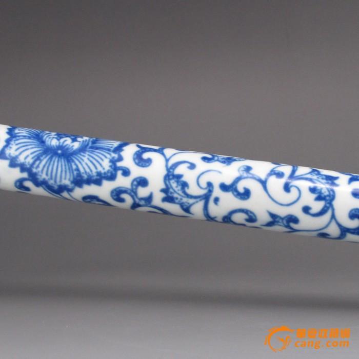青花瓷乐器 瓷器笛子;